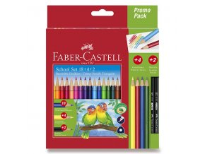 Pastelky Faber-Castell trojhranné 18ks - školní sada