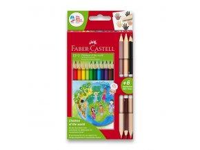 Pastelky Faber-Castell CHILDREN OF THE WORLD 12ks + 6 barev