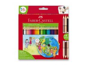Pastelky Faber-Castell CHILDREN OF THE WORLD 24ks + 6 barev