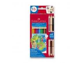Pastelky Faber-Castell Grip CHILDREN OF THE WORLD 10ks + 6 barev