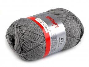 Bavlněná pletací příze Limone (50g) - šedá
