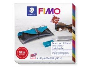 Sada FIMO Leather DIY POUZDRO na brýle