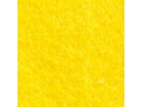 Plsť / filc 70x100 cm, tl. 3 mm - žlutá