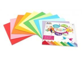 Sada barevných papírů 20x20 cm, 70 g/m2 (80 listů)