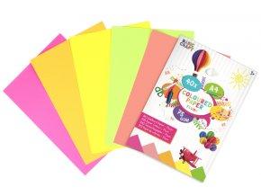 Barevné papíry A4 - neonové (40 listů)