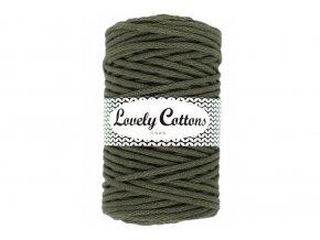 Lovely Cotton ŠŇŮRY - 5mm (100m) - DARK OLIVE