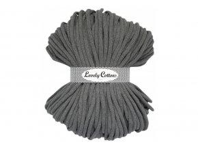Lovely Cotton ŠŇŮRY - 9mm (100m) - DARK GREY