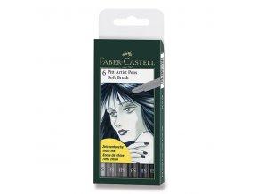 Popisovač PITT artist pen soft brush - 6 ks