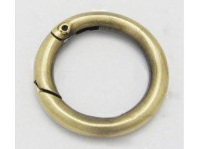 Karabina kruhová, pr.28 mm - starozlato