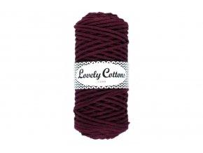 Lovely Cotton ŠŇŮRY - 3mm (100m) - BURGUNDY