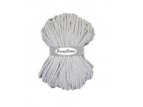 Lovely Cotton ŠŇŮRY - 9mm (100m) - LIGHT GREY