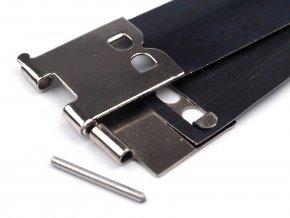 Pérko/zapínání na výrobu peněženku 14x100mm (5párů)