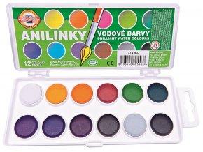 Vodové barvy ANILINKY, brilantní - 12 barev