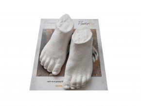 Odlitek BELA nohy Powertex, 8,5x3,5cm