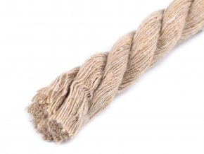 Bavlněná šňůra kroucená Ø12mm (1m) - více barev