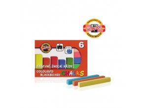 koh i noor 112505 barevna krida skolni 6ks v krabicce