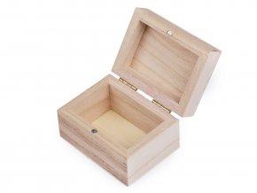 Dřevěná krabička k dozdobení 5,5 x 7,5 cm