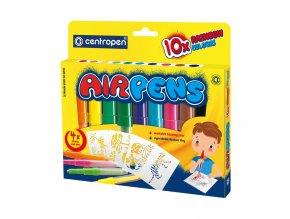 centropen 1500 10 rainbow foukaci fixy sada na papir 10 barev