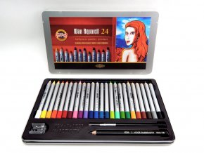 Sada akvarel. vosk. pastelů Koh-I-Noor Wax Aquarell (24ks)