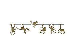 Motivová šablona BRICO Home Design (11x70 cm) - opičky
