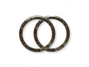Ucho pro tašku Hoooked, kruhové, pár - pr. 20 cm, ambra