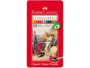 Pastelka šestihranná Faber-Castell plech.krabička 12ks