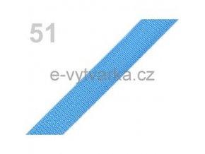 Popruh polypropylén š.20mm (5m) - modrá azuro