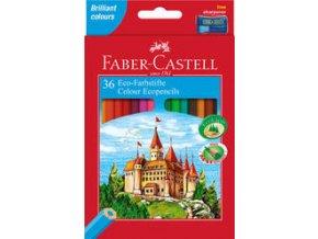 Pastelka šestihranné Eco Faber-Castell, pap.krabička 36ks