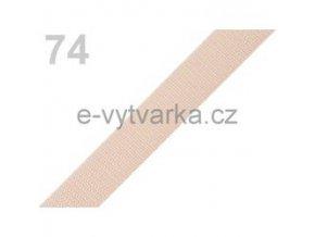 Popruh polypropylén š.20mm (5m) - jantar sv.
