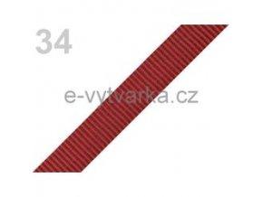 Popruh polypropylén š.20mm (5m) - tm. červeň