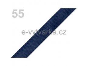 Popruh polypropylén š.20mm (5m) - modrá tm.