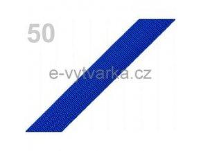 Popruh polypropylén š.20mm (5m) - modrá sytá