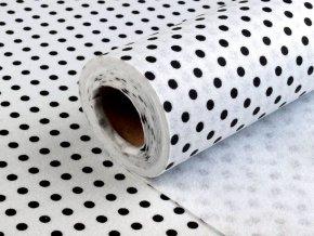 Filc / plsť šíře 41 cm s puntíky (0,5m)