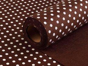 Filc / plsť šíře 41 cm s puntíky, 0,5m
