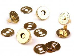 Zapínání magnet pr.15 mm (5 sad) - zlatá