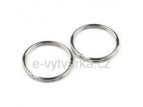 Kroužek na klíče pr.35 mm (10ks) - platina