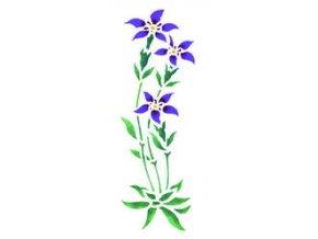 Motivová šablona BRICO Home Design (18x50 cm) - luční květina