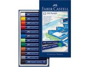 Olejové pastely GOLDFABER Faber-Castell 12 ks