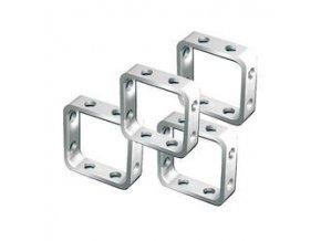 Fimo Šperkové doplňky čtverec 10mm sada 4ks