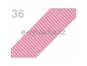 Popruh polypropylén š.50mm (5m) - růžová