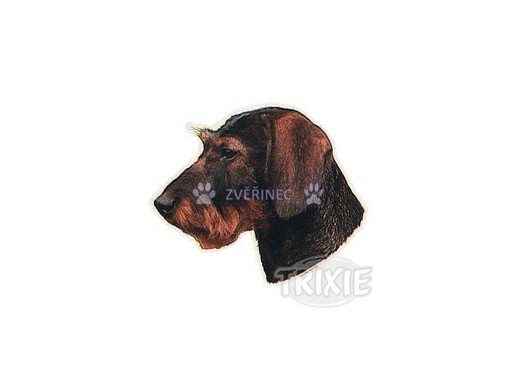 Trixie Samolepka hlava jezevčík dlouhosrstý hnědý - Zvěřinec 68bd3ab895