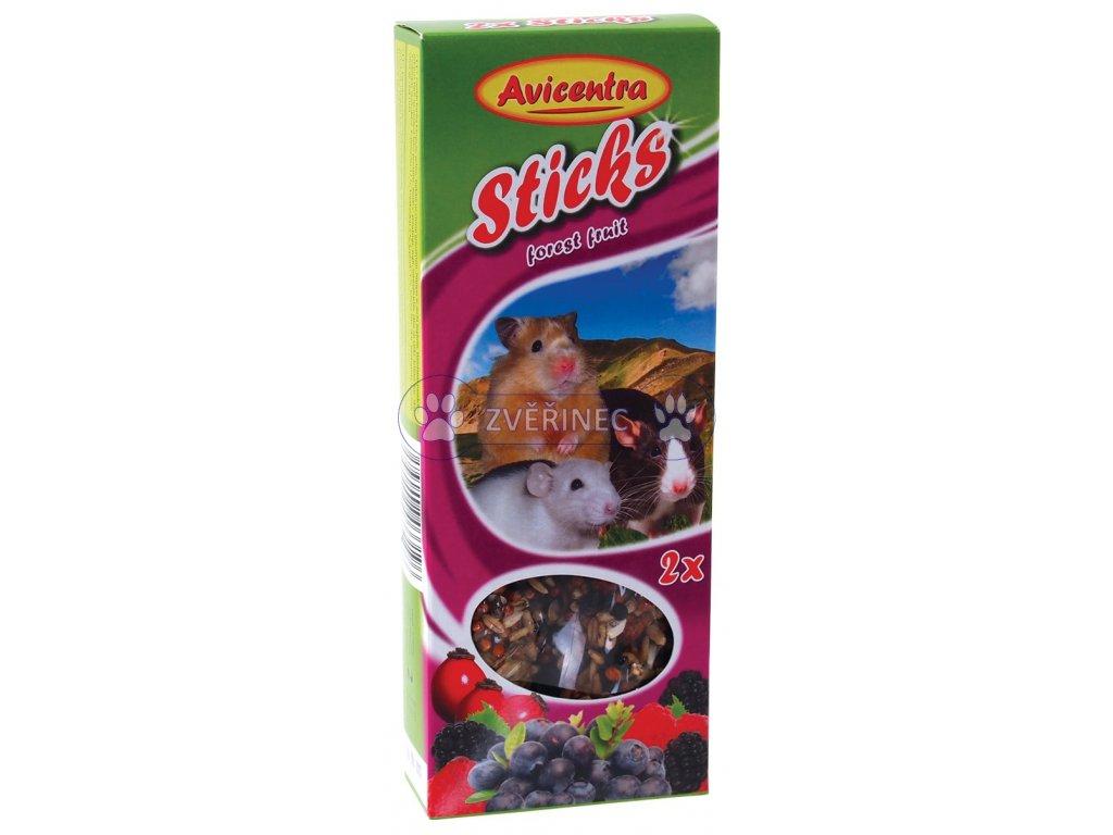 Tyčinky AVICENTRA s lesním ovocem pro malé hlodavce 2 ks
