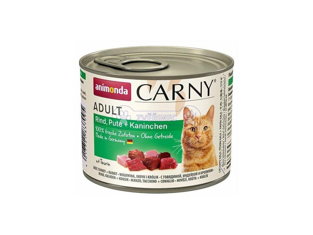 Animonda Carny konzerva Adult krůta, králík 200 g