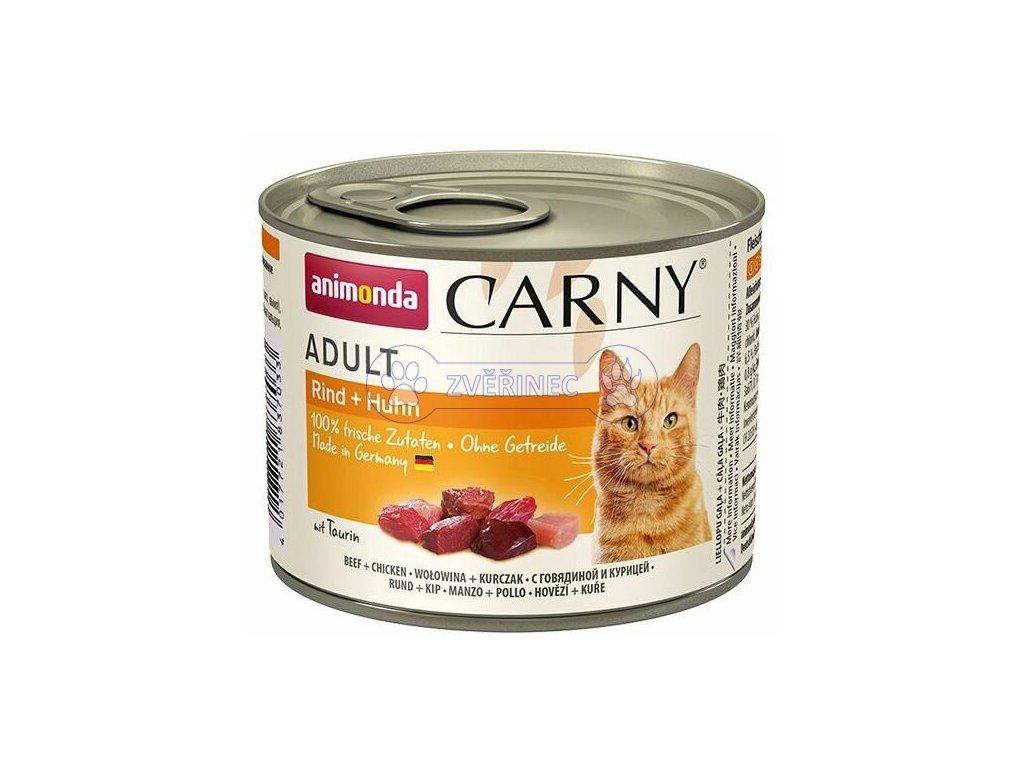ANIMONDA konzerva CARNY Adult hovězí, kuřecí 200g