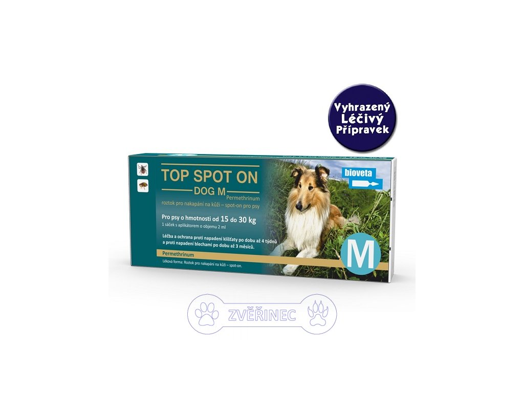 TOP SPOT ON dog M do 30 kg VLP
