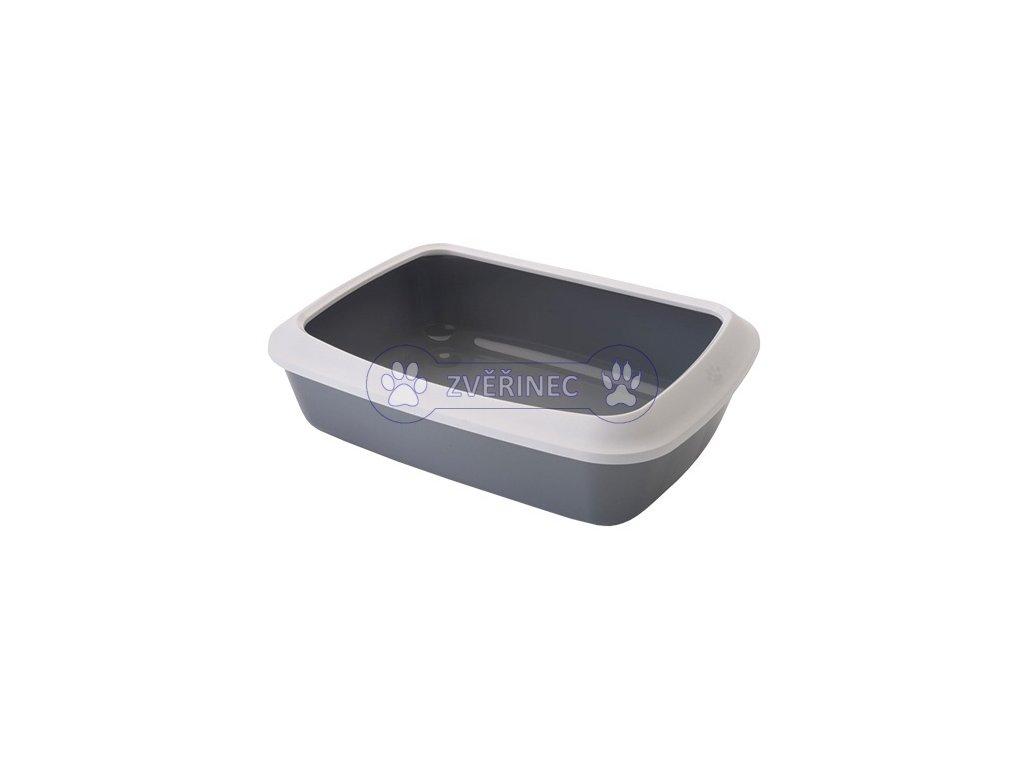 Toaleta Isis+okraj 50x37x14 cm šedá