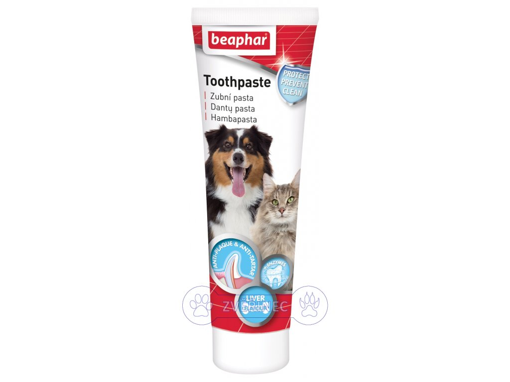 Zubní pasta Beaphar s játrovou příchutí 100 g