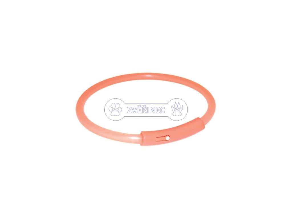 Trixie LED obojek oranžový 50 cm