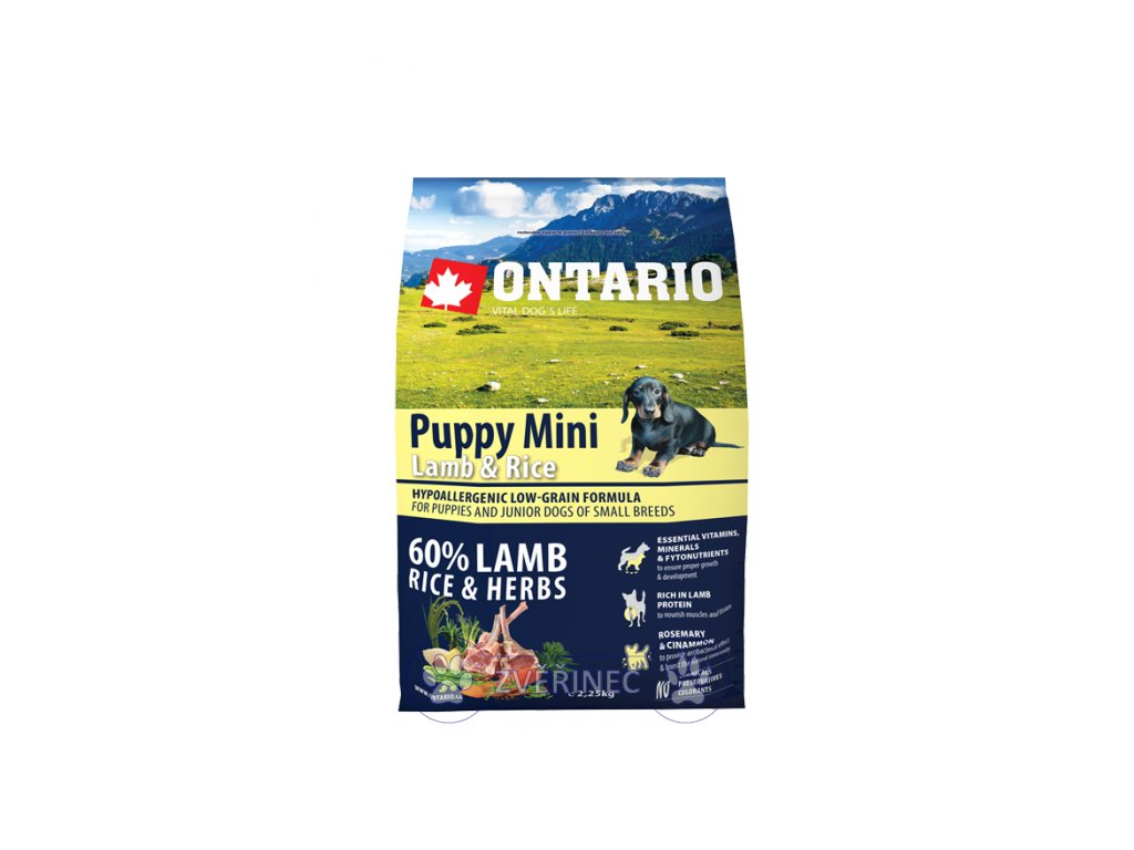 Ontario Puppy Mini Lamb & Rice 2,25 kg