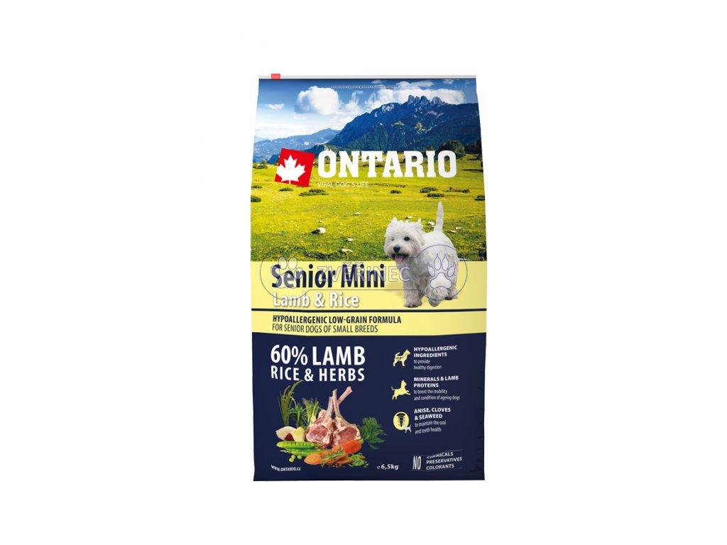 ontario senior mini lamb rice 6 5kg original